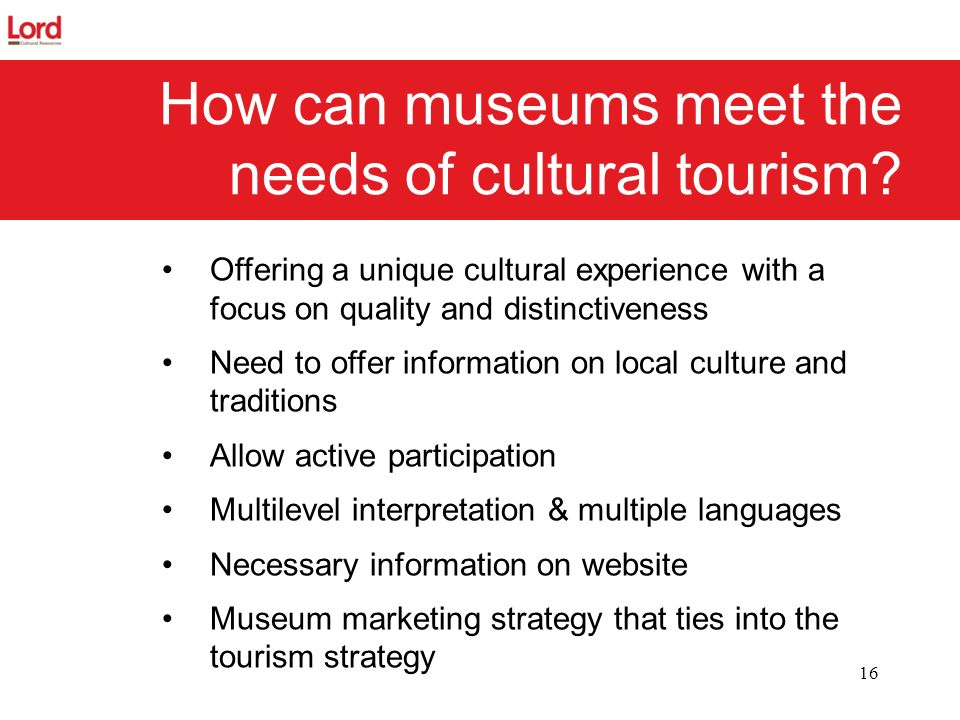 How can museums meet the needs of cultural tourism