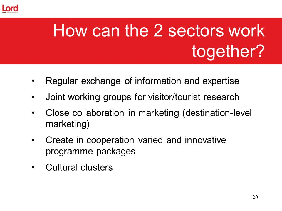 How can the 2 sectors work together