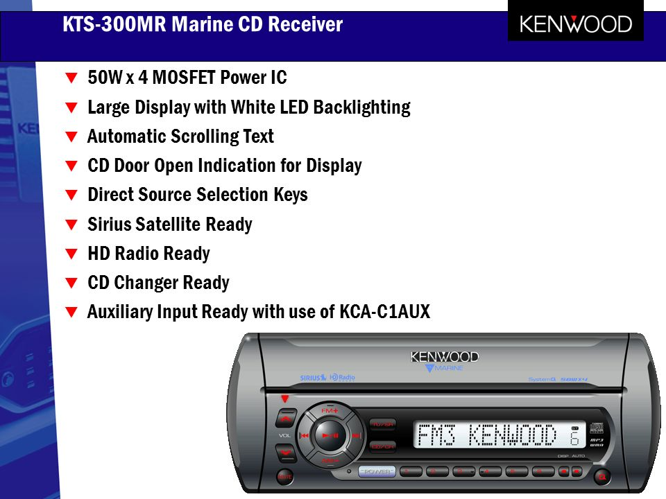 2005 kenwood marine products ppt video online download rh slideplayer com Online User Guide Example User Guide