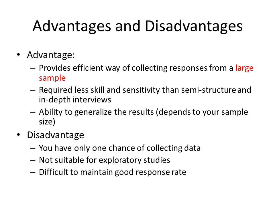 Main advantages of a. A large sample size? B. A ba. | chegg. Com.