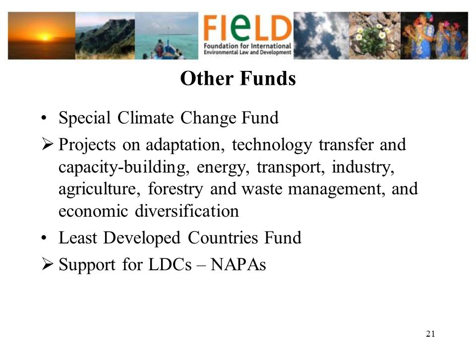 Other Funds Special Climate Change Fund