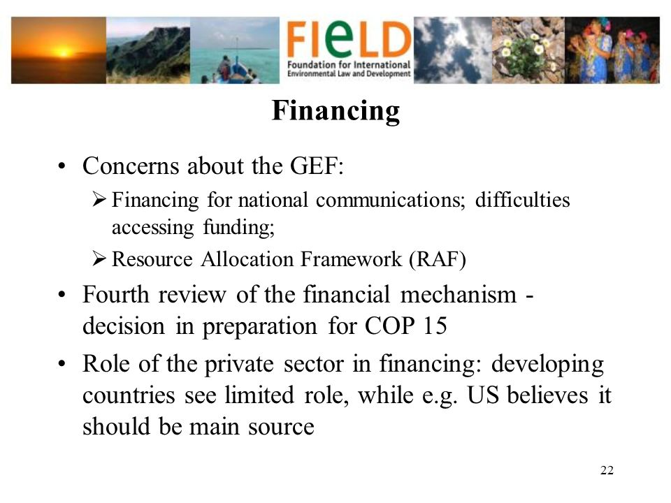 Financing Concerns about the GEF: