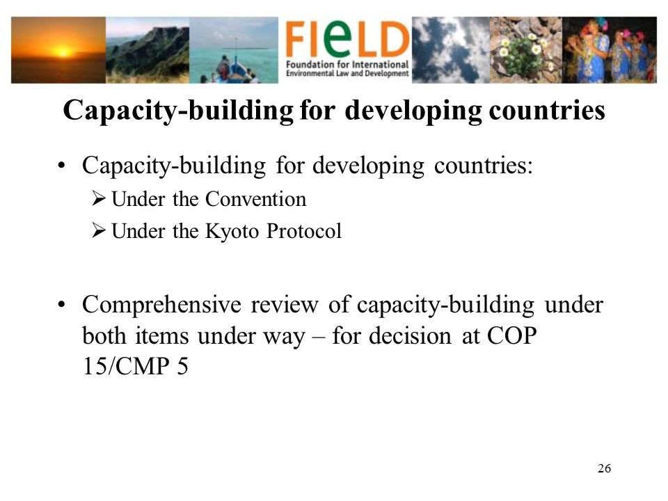 Capacity-building for developing countries
