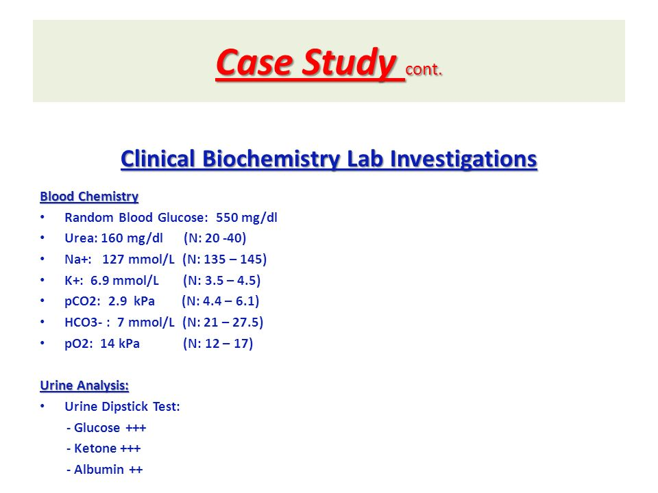 Clinical Biochemistry Lab Investigations