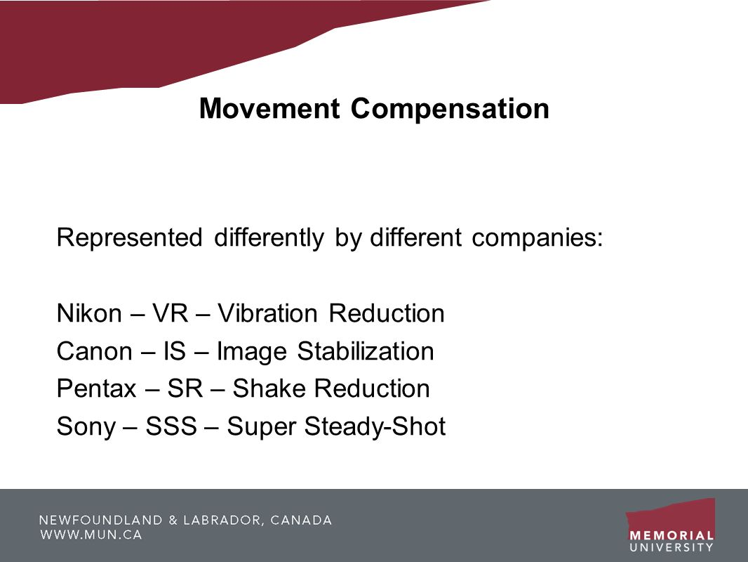 Movement Compensation
