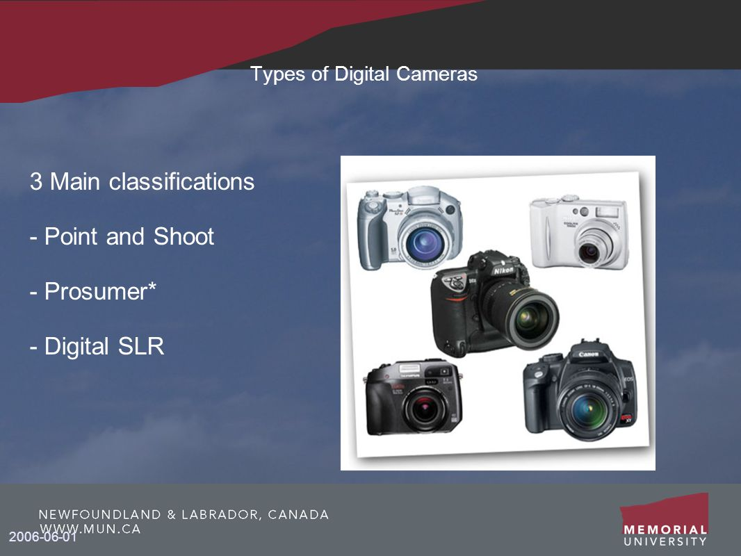 Types of Digital Cameras