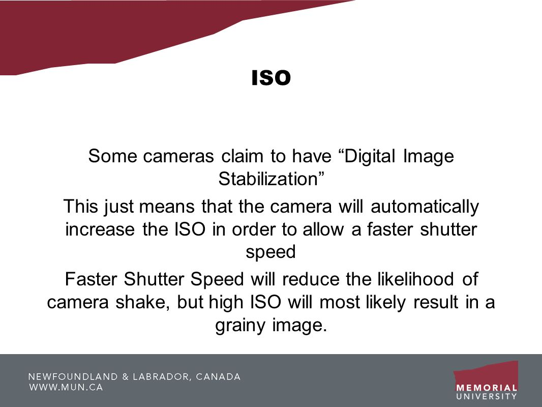 Some cameras claim to have Digital Image Stabilization