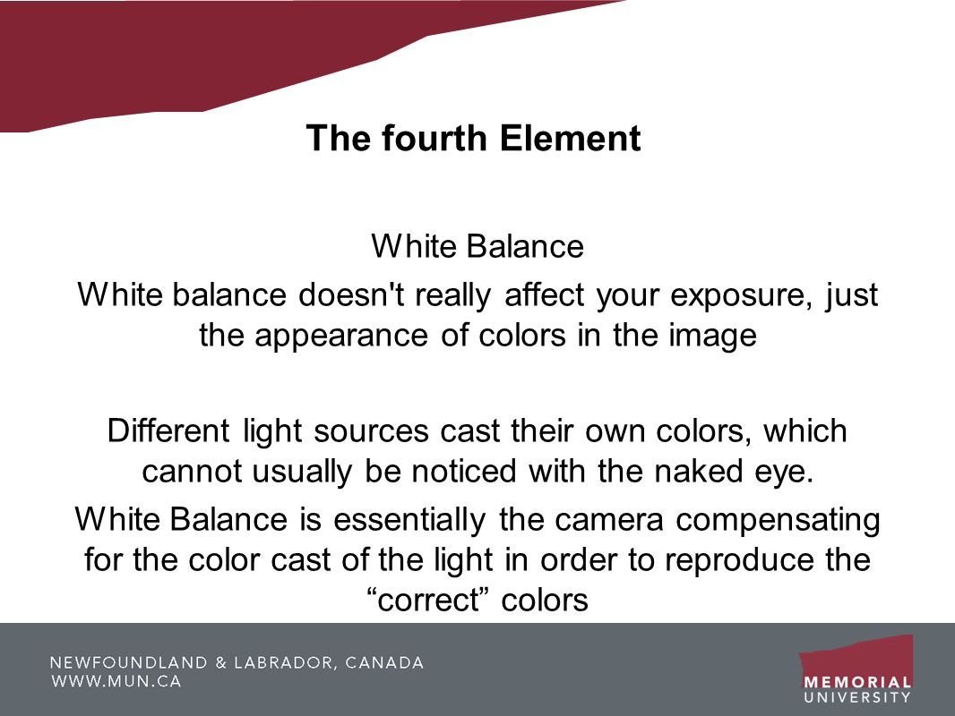 The fourth Element White Balance