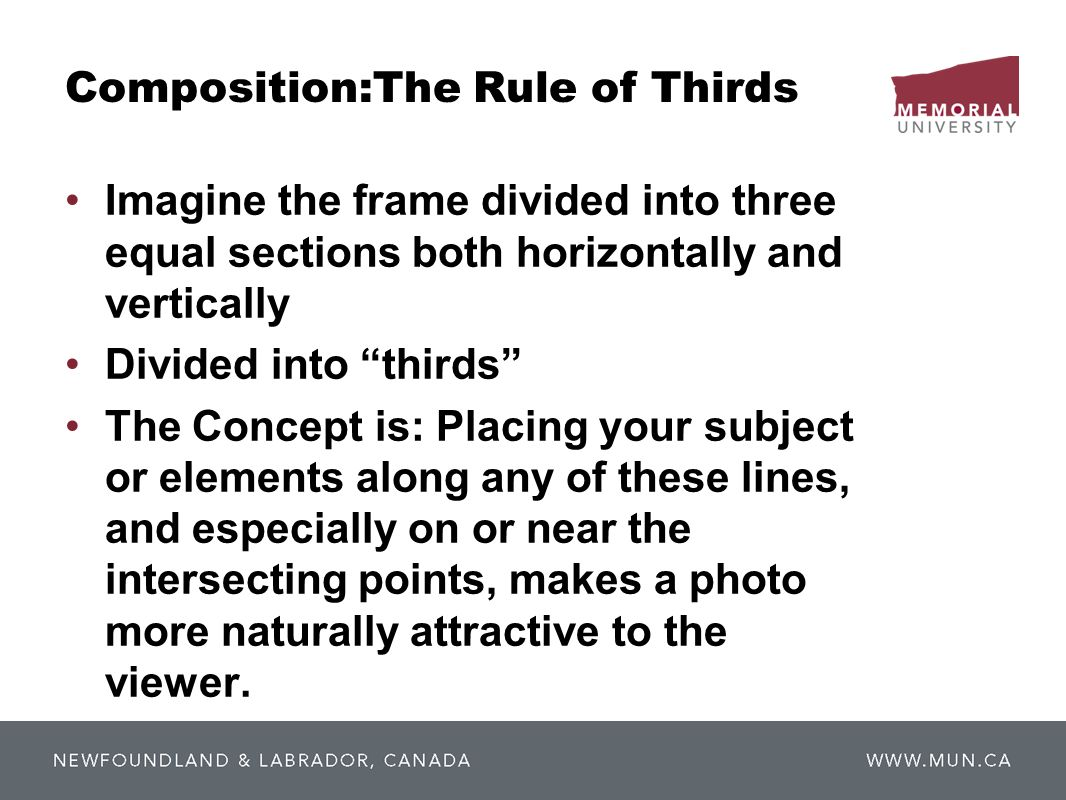 Composition:The Rule of Thirds