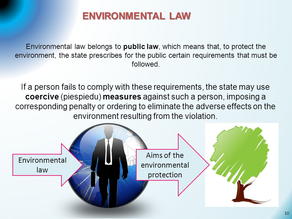Aims of the environmental protection