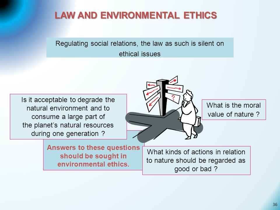 LAW AND ENVIRONMENTAL ETHICS