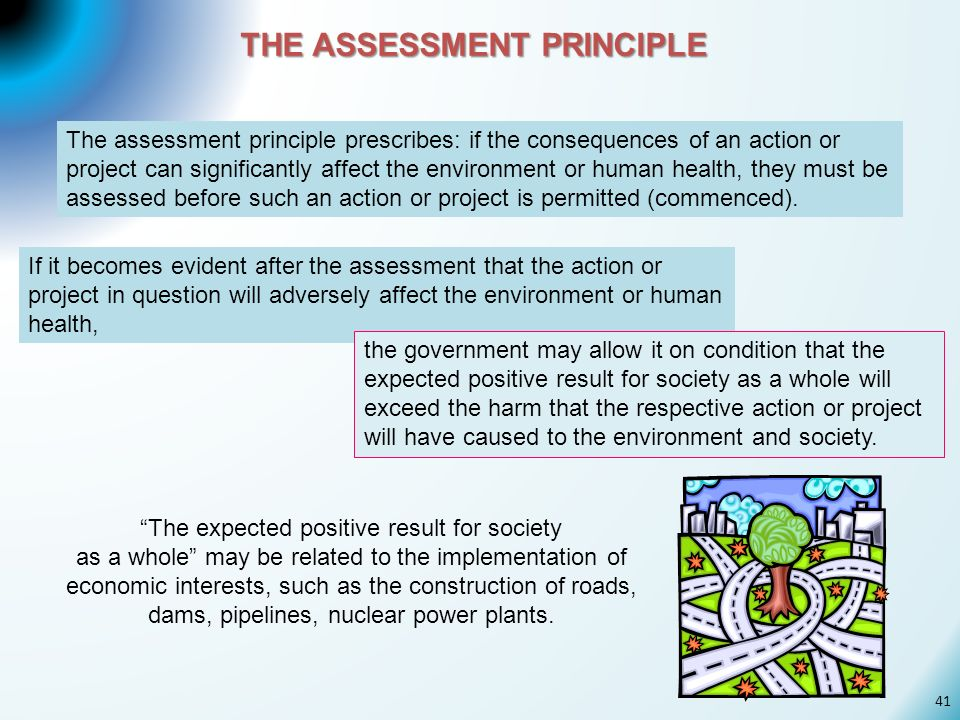 THE ASSESSMENT PRINCIPLE