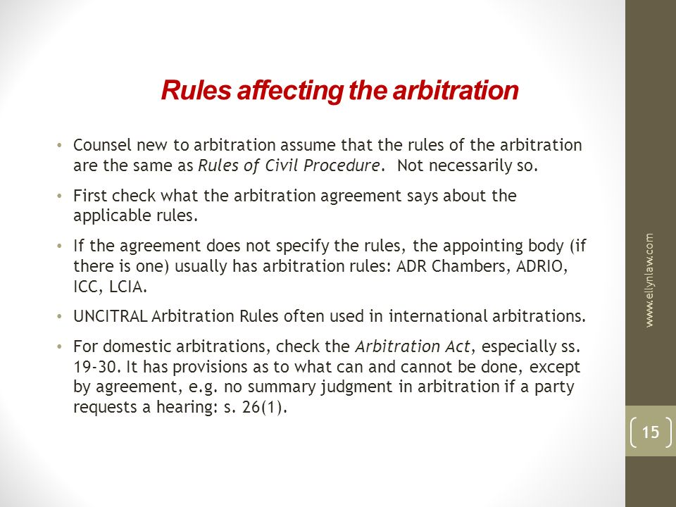 Effective Advocacy In Commercial Arbitration Ppt Video Online Download