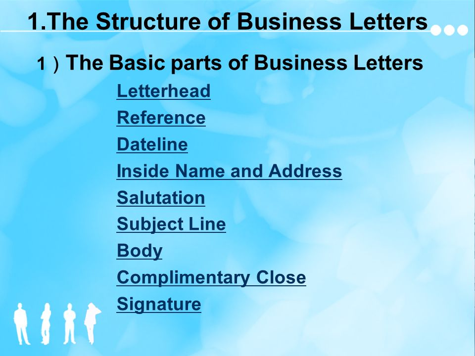 Structure Of Business Letter from slideplayer.com