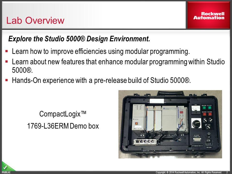 L18 - Studio 5000® and Logix Advanced Lab - ppt video online download