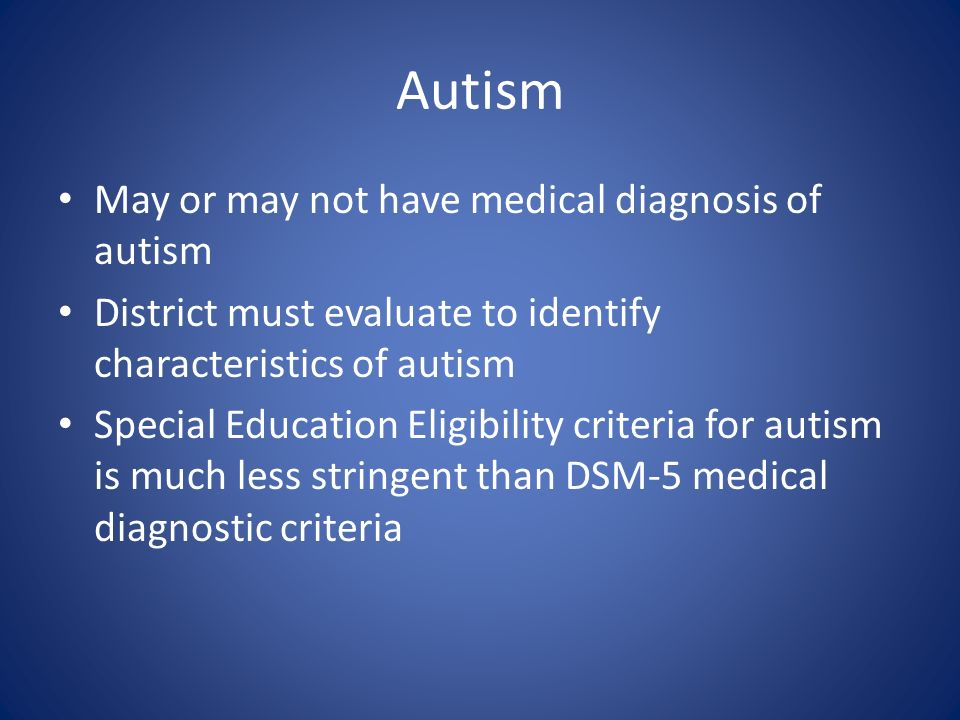 Special Education Eligibility And Dsm 5 >> Special Education Process Ppt Video Online Download