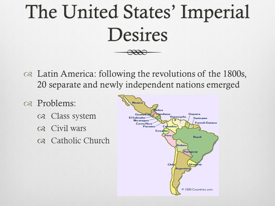 The United States' Imperial Desires