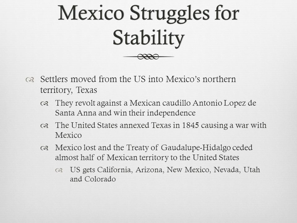 Mexico Struggles for Stability