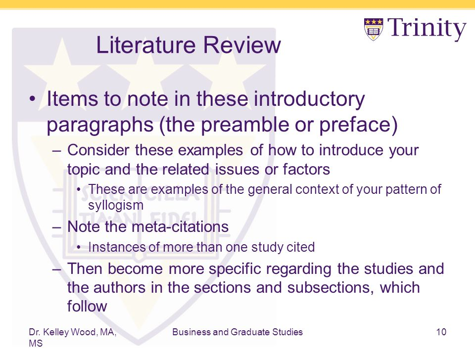 Making Your Literature Review Sing Argumentation Syllogism