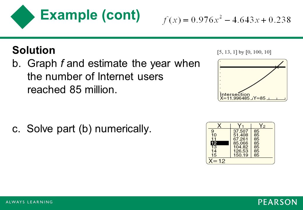 Example (cont) Solution b.