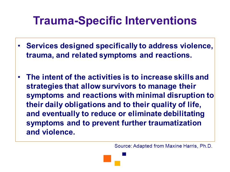 Trauma-Specific Interventions