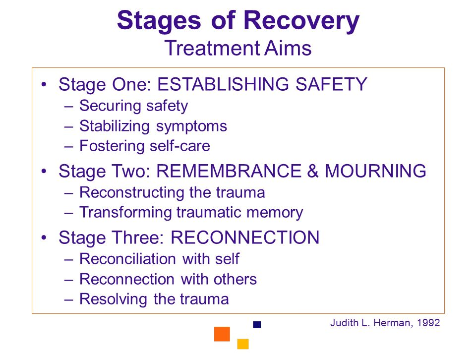 Stages of Recovery Treatment Aims