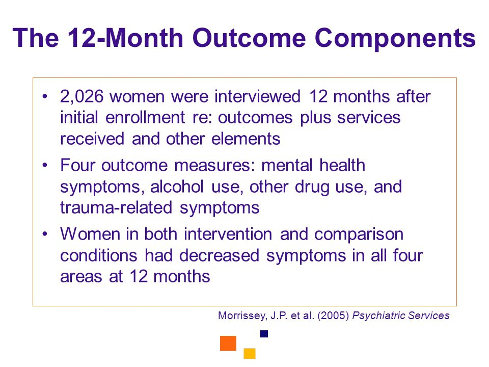 The 12-Month Outcome Components