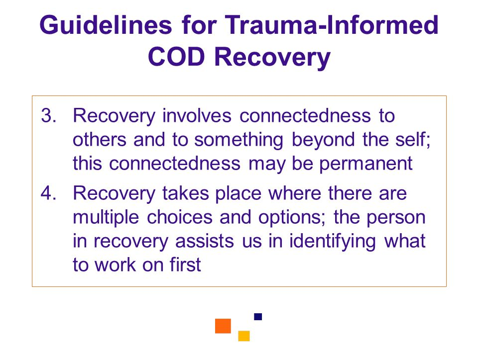 Guidelines for Trauma-Informed COD Recovery