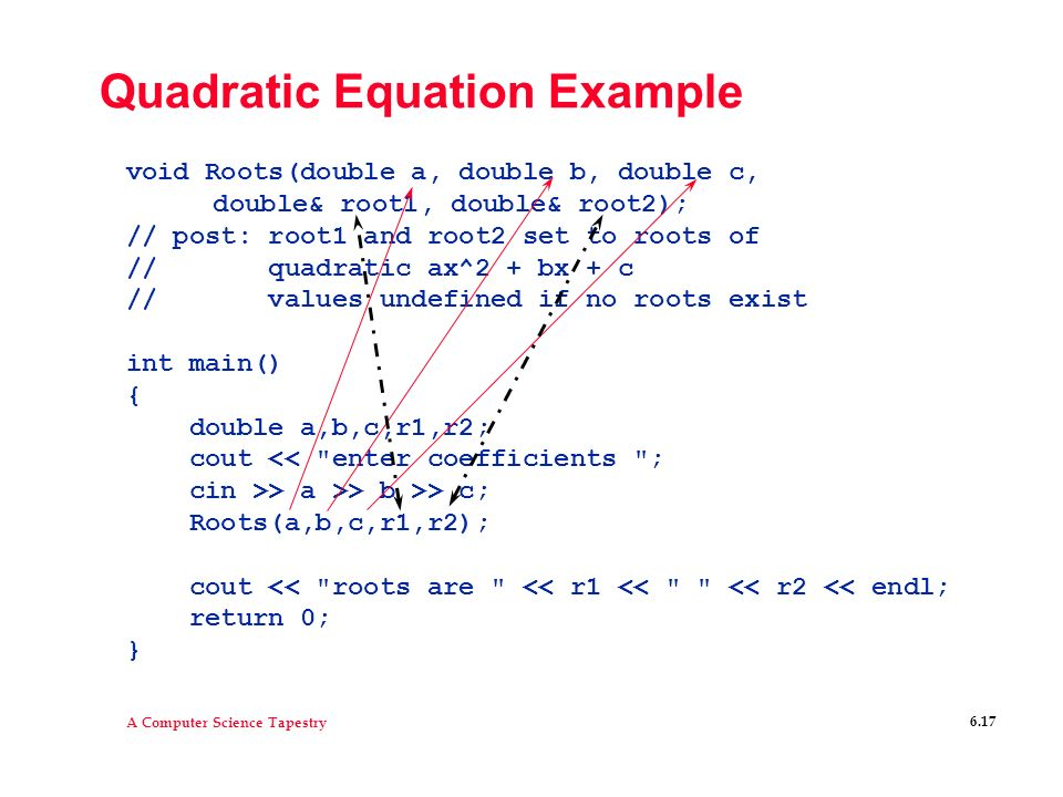 Quadratic Equation Example