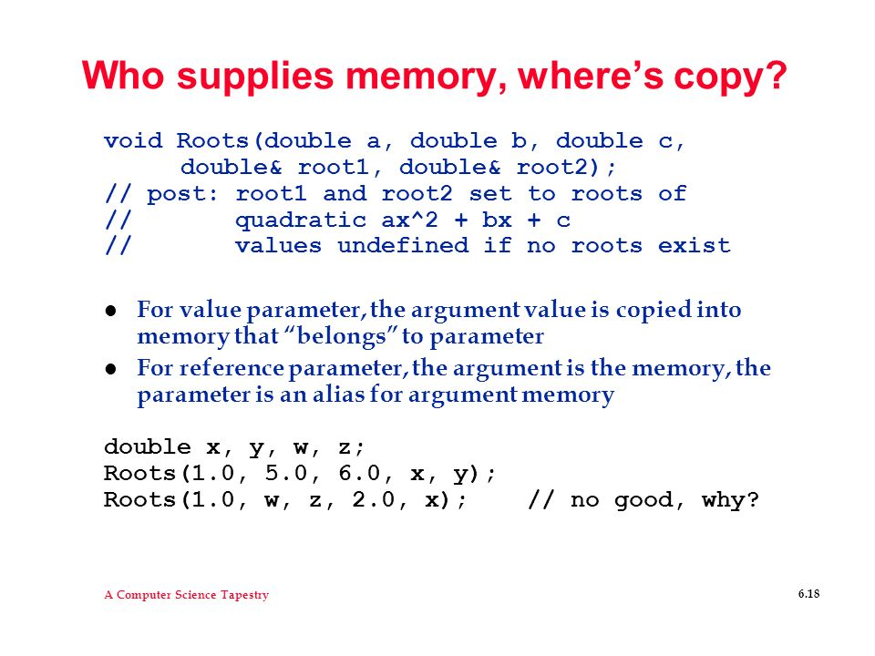 Who supplies memory, where's copy