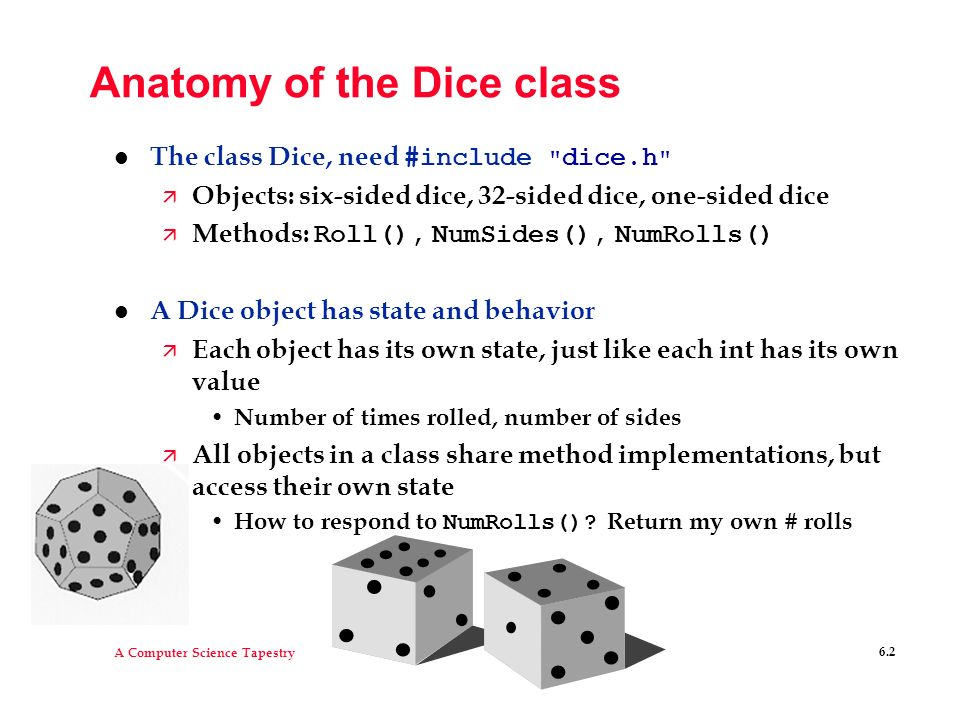 Anatomy of the Dice class