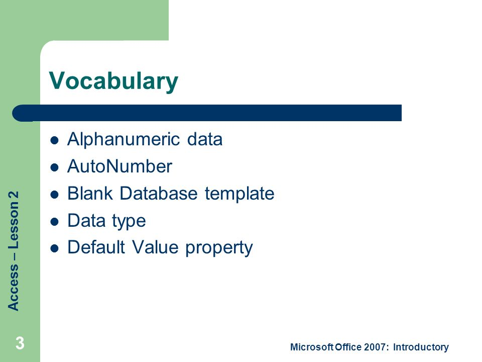 access lesson 2 creating a database - ppt download, Database Presentation Template, Presentation templates