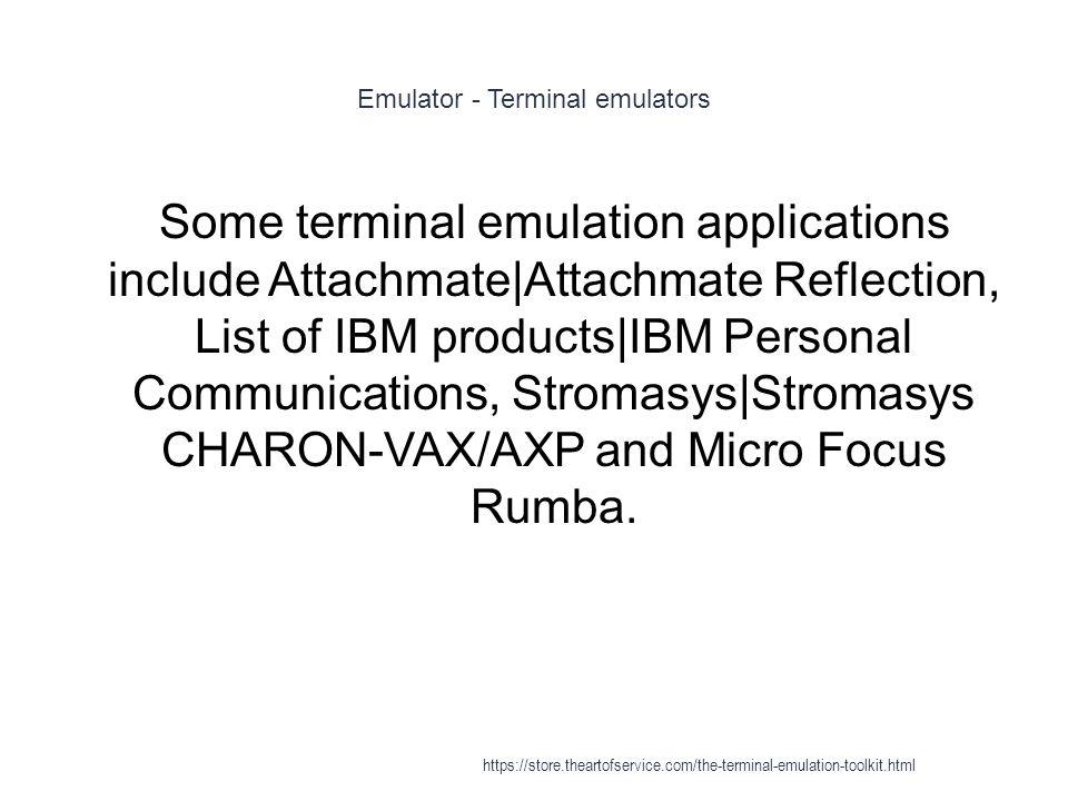 Terminal emulation - ppt video online download