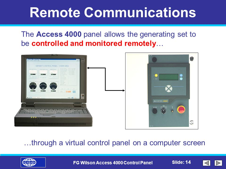 fg wilson access 4000 control panel ppt video online download rh slideplayer com Access Control List Diagram Schlage Access Control Software