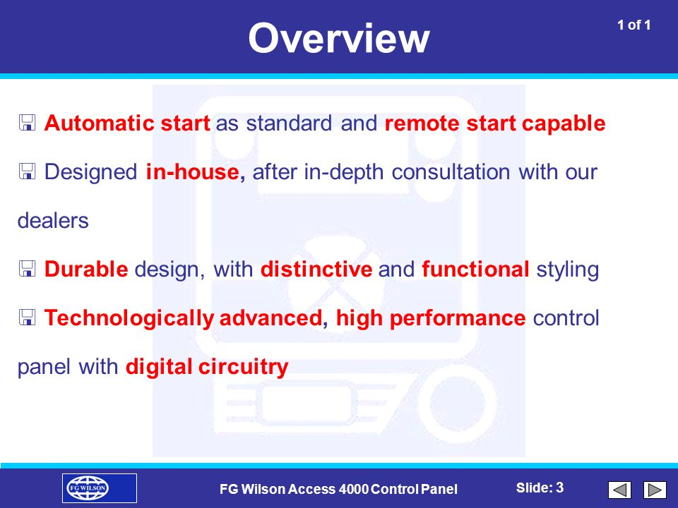 fg wilson access 4000 control panel ppt video online download rh slideplayer com HID Door Access Control Wiring Diagram Access Control Wiring Diagram Schematic