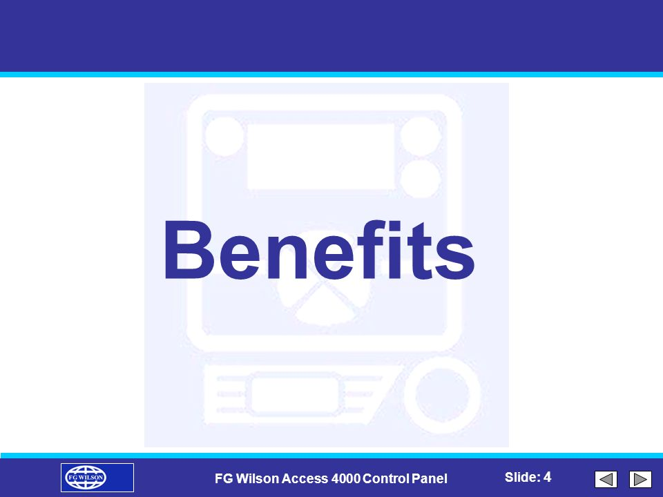 FG Wilson Access 4000 Control Panel on