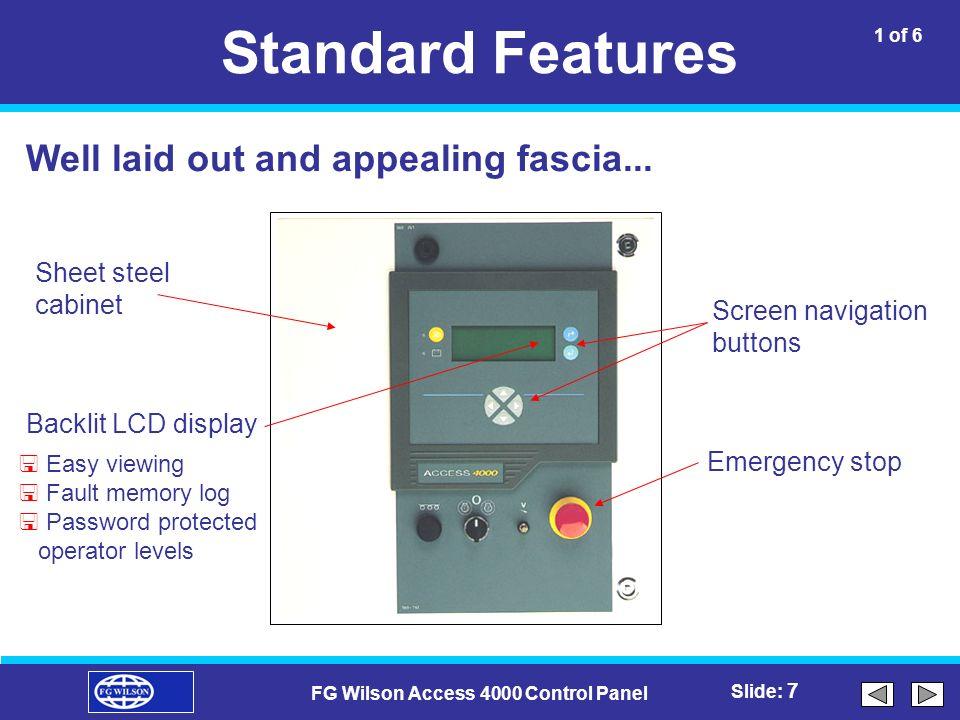 fg wilson access 4000 control panel