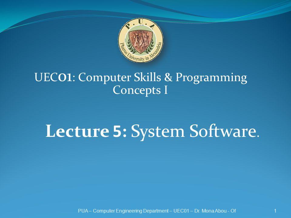 UEC01 Computer Skills Programming Concepts I Ppt Download