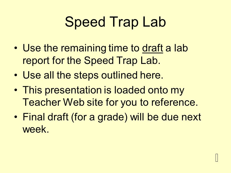 lab report steps