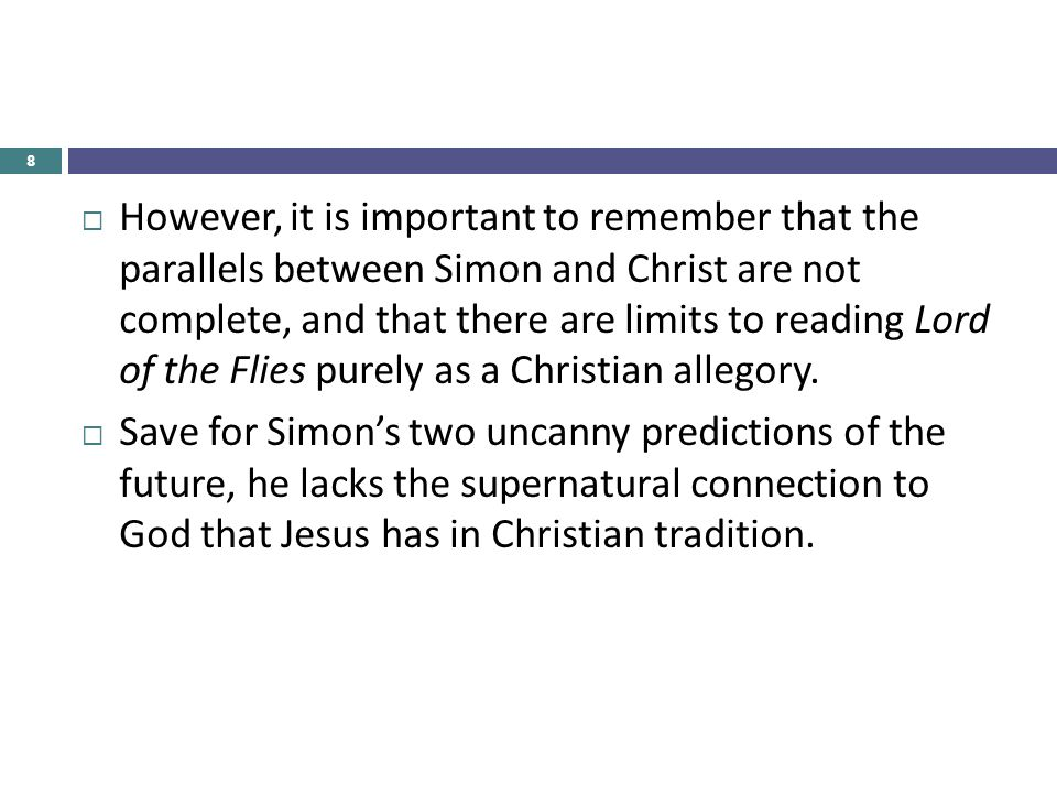 lord of the flies biblical allegory