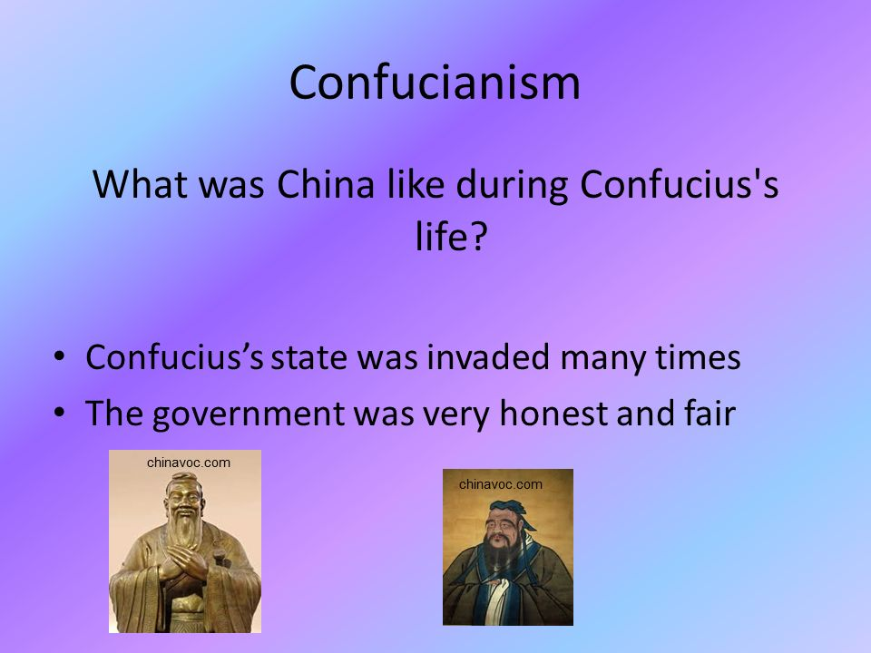 What was China like during Confucius s life