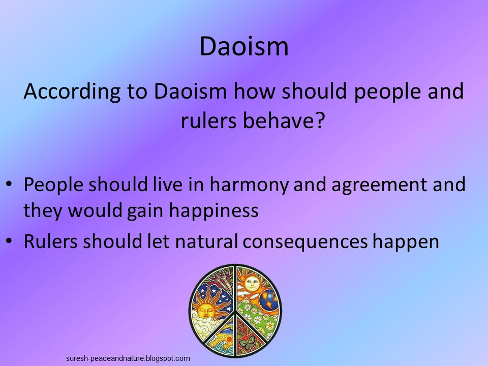 According to Daoism how should people and rulers behave