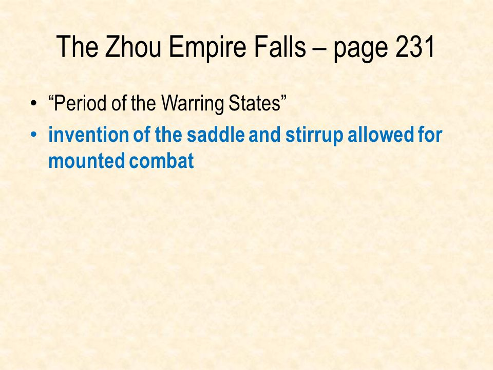The Zhou Empire Falls – page 231