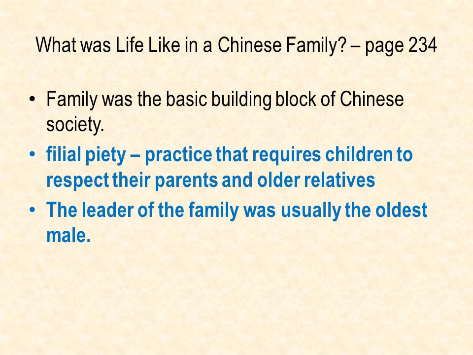 What was Life Like in a Chinese Family – page 234