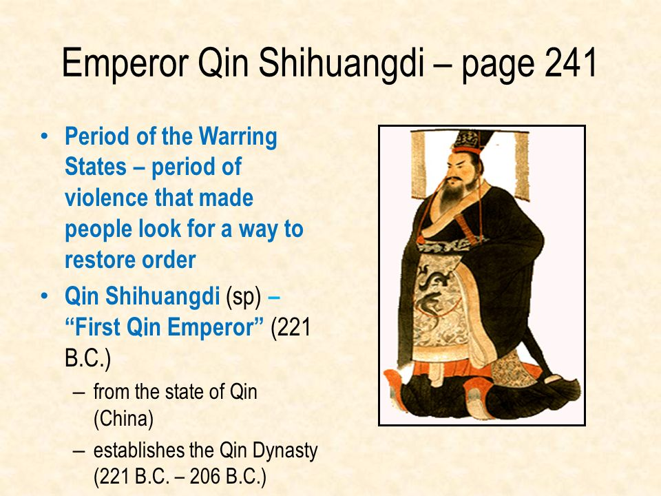 Emperor Qin Shihuangdi – page 241
