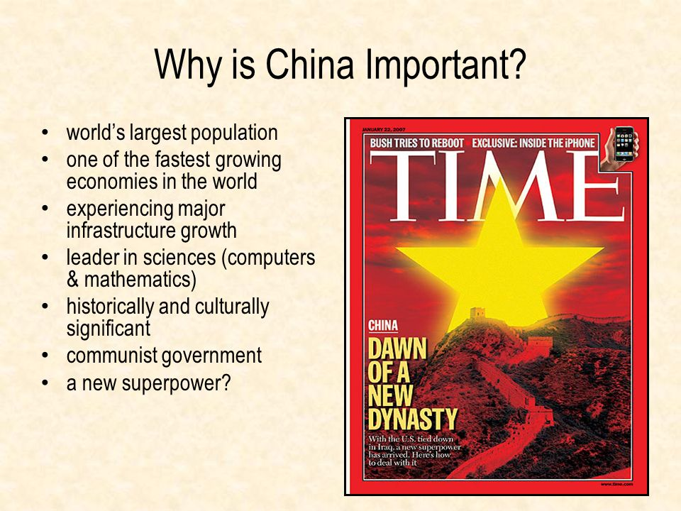Why is China Important world's largest population