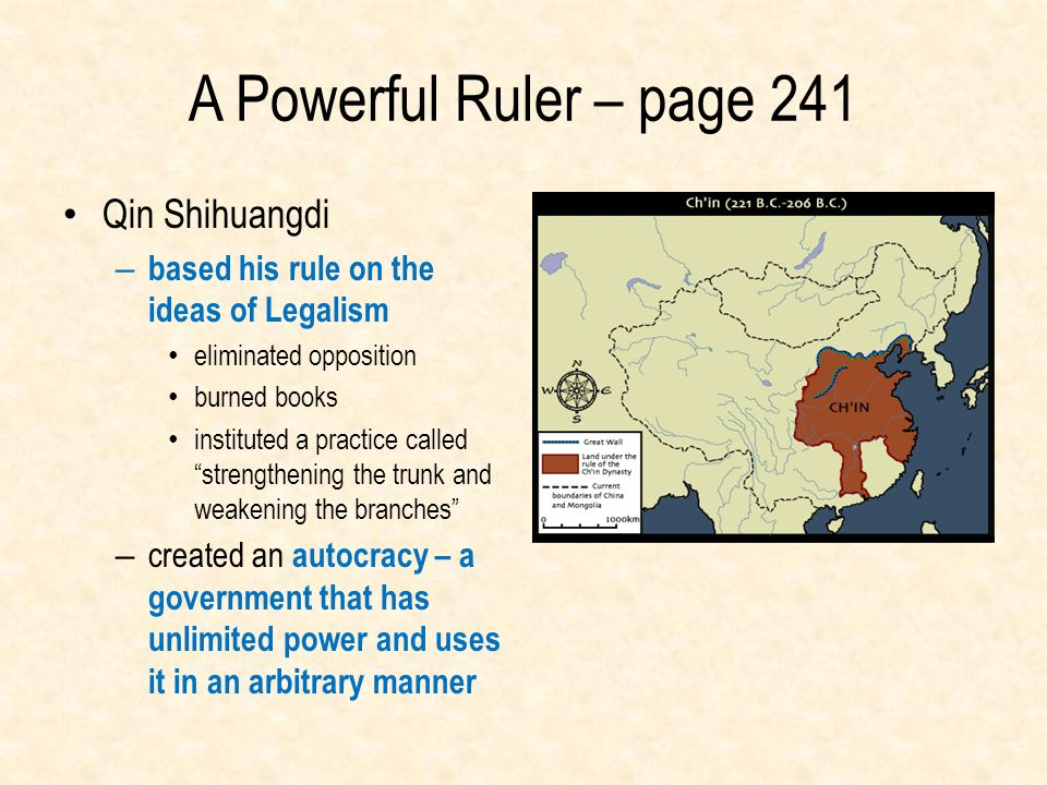 A Powerful Ruler – page 241 Qin Shihuangdi