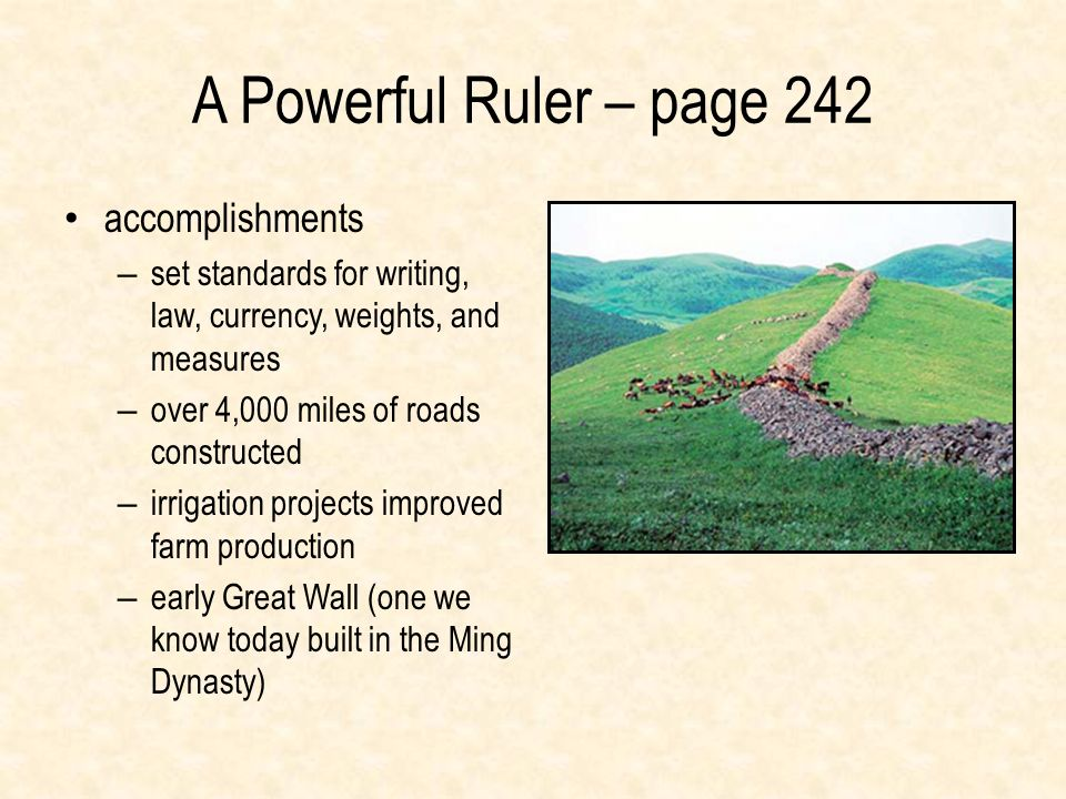 A Powerful Ruler – page 242 accomplishments