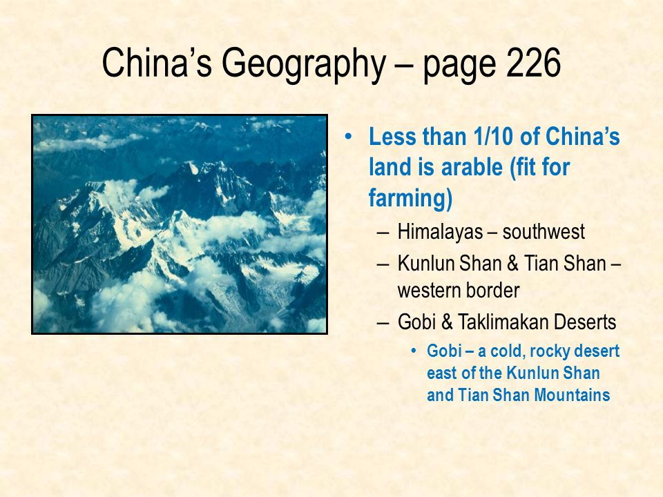China's Geography – page 226