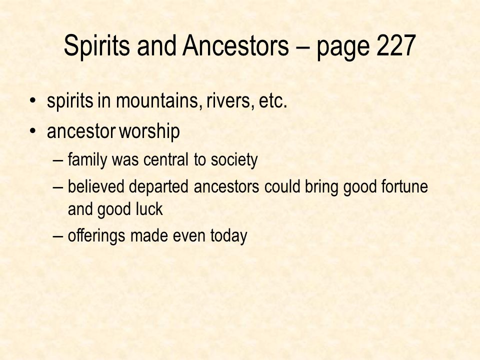 Spirits and Ancestors – page 227